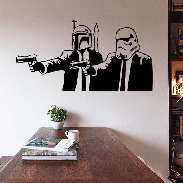 L12 Star Wars Wall Stickers Wall Decals DIY Home Decoration Wall Mural  Removable Bedroom Sticker Free