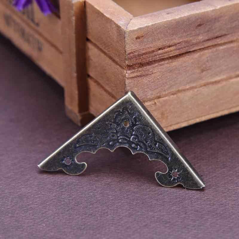 Antique Bronze Jewelry Box Corner Foot