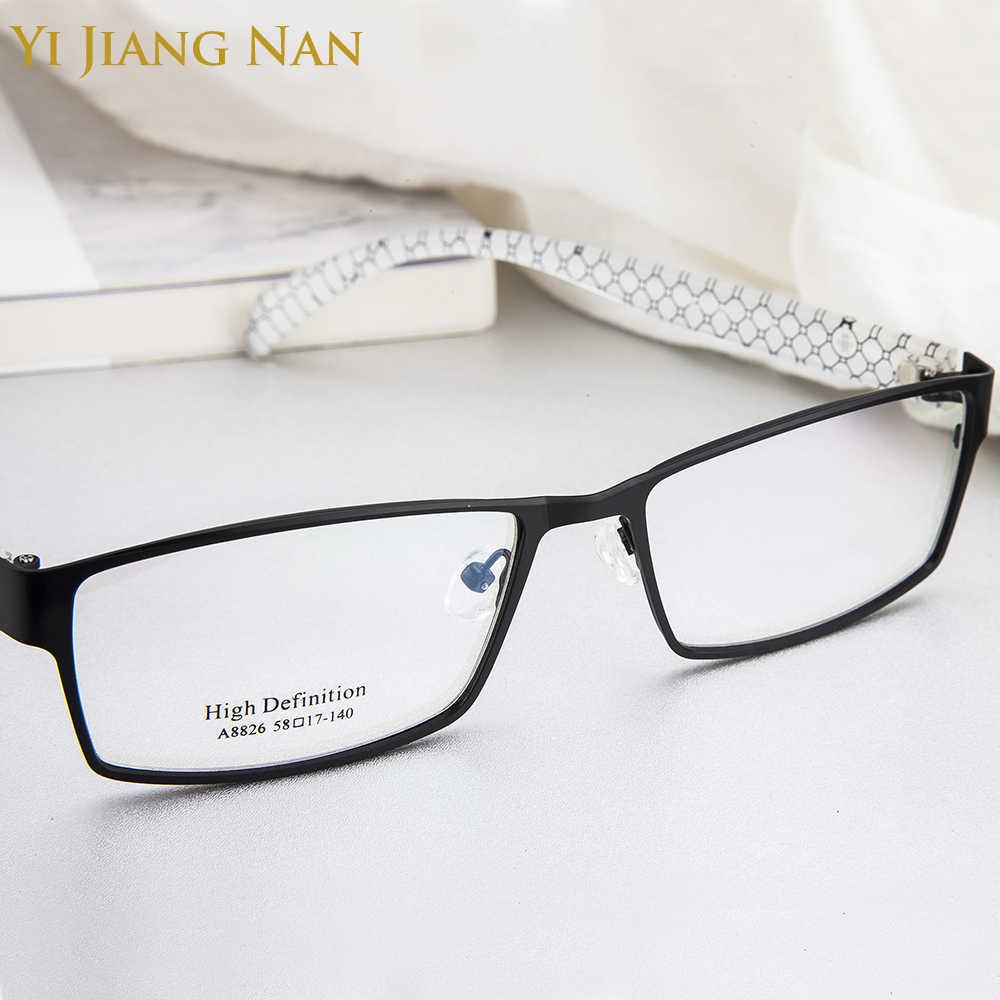 Moda tendencia Full rimed Marco de gran tamaño de cara ancha hombre gafas de prescripción marco para hombres
