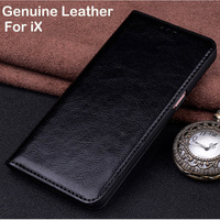 2pcs 5.8inch Genuine Leather case For iPhoneX flip phone shell case cover For iPhone X case back cover iX shell capas