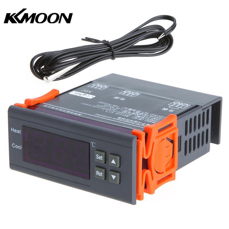10a 220 V Mini Digital Thermostat Hygromstat Luft Temperatur Controller Messbereich 1%-99% Mit Sensor Analysatoren