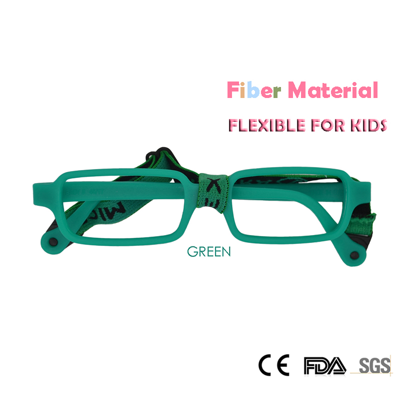 Apparel Accessories Esnbie Fashion Bendable Kids Eyeglasses Frames New Fiber Memory Child Glasses With Elastic Cord Girls Boys Optics Eyewear 10pcs
