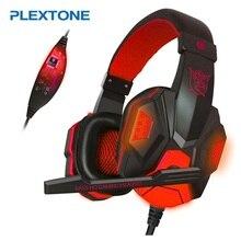 PLEXTONE Led Gaming Casque Avec Microphone Jeu Casque Usb Casque Pour Ordinateur Pc Stéréo Filaire Écouteurs Audifonos