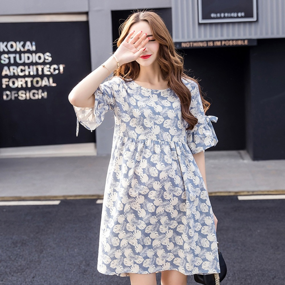 2018 Summer Maternity Clothes Pregnant Woman Breastfeeding Dress Maternity Nursing Dress Pregnancy Clothes For Pregnant Woman XL