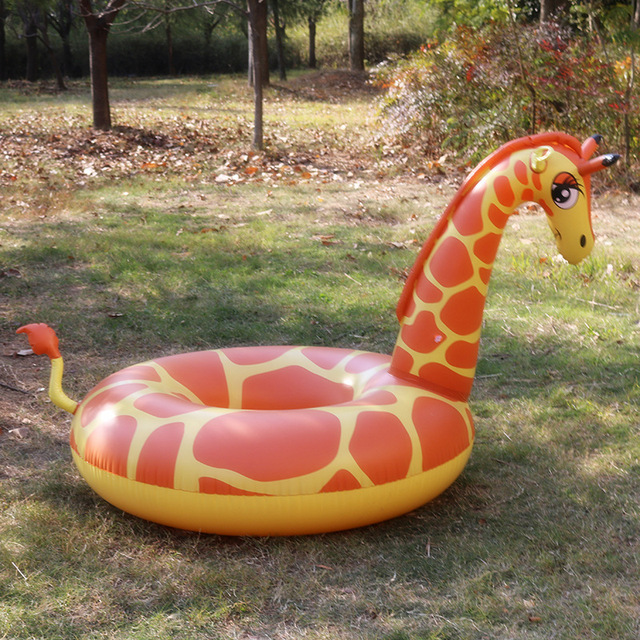 Great Inflatable Giraffe Pool Float 2018 Summer New Row Giant Giraffe Swimming  Ring Inflatable Float Pool Float
