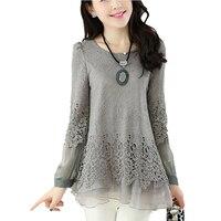 2015 New Autumn Fashion Long Sleeve Women Blouses Slim Chiffon Shirts For Women Casual Camisa Feminina