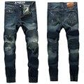 2017 Hot Sale Slim Fit Jeans Men Original Famous Brand Ripped Jeans Denim Trousers High Quality Mens Jogger Jeans U393