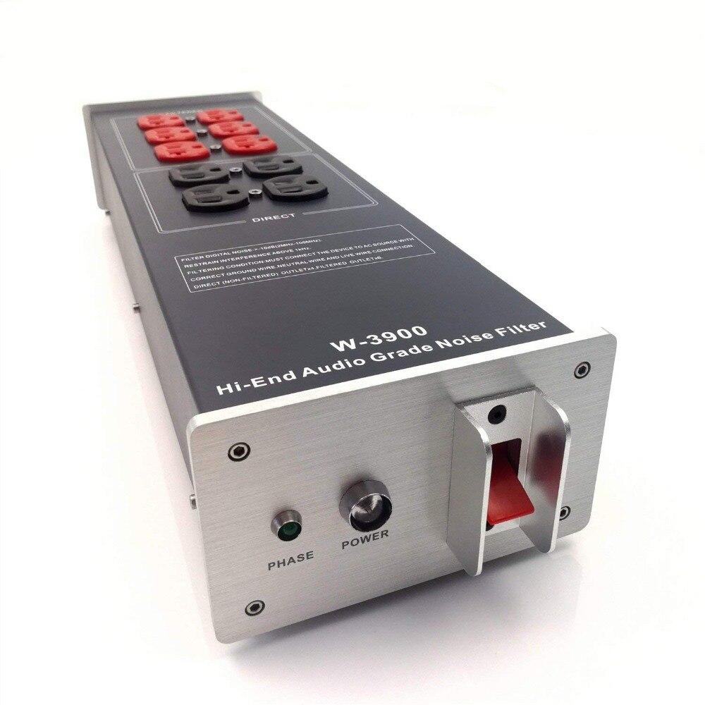 WAudio W-3900 High-End de Áudio Noise Filter Condicionador De Energia AC Poder Filtro Purificador de Potência com NOS Pontos de Venda