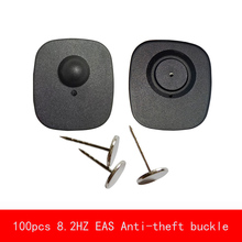 цена на 100pcs 8.2HZ radio frequency EAS Anti-theft buckle strong magnet tag remover 19MM Needle