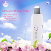 Portable Anion Ultrasonic Vibration Face Cleansing Machine Beauty Cleaning Spa Care Acne Removal Tool Ultrasound Skin