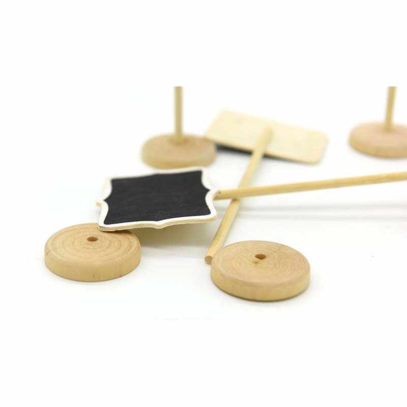 Mini Small Wooden Chalk Blackboard Wedding Kitchen Restaurant Signs Chalkboard Writing Notice Message Paint Wood Board