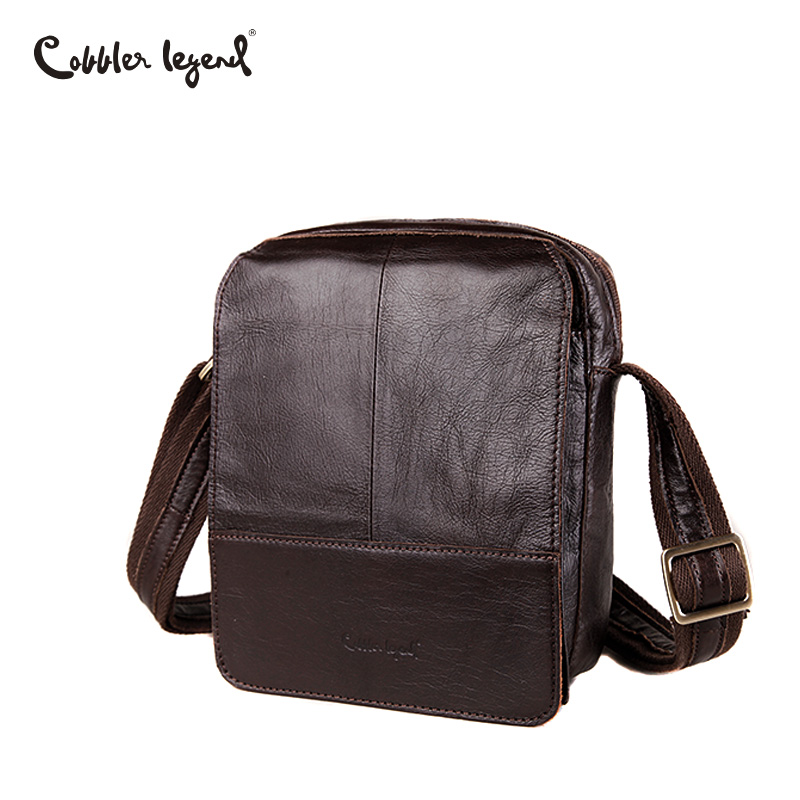 Cobbler Legend Brand 100% Genuine Leather Mens Bag Shoulder Bags Messenger For Men Business Cross body Bag Portfolio 2017 new casual business leather mens messenger bag hot sell famous brand design leather men bag vintage fashion mens cross body bag