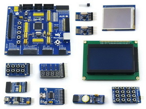 OpenM128 Package B # ATmega128A-AU ATmega128 ATMEL mega AVR 8-bit RISC Board +11pcs Accessory Modules Kits