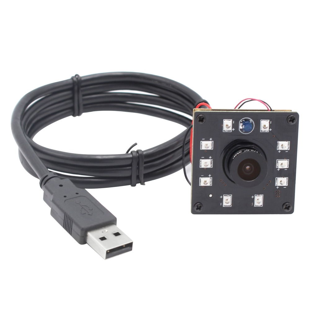 цена на ELP 1.0 Megapixel 720P OV9712 CMOS H.264 /MJPEG Infrered usb webcam Cam Module CCTV Board IR camera for Android Linux Windows