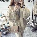 Computador De Malha Cardigans mulheres Sweater Cardigan 2016 Inverno Nova Moda de Alta Qualidade Sólida Puxar Femme Mujer Sweter SZQ054