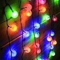 5 M 30 Bola De Algodão LEVOU Seqüência de Luz Luzes De Natal Solares Festa de Ano Novo Árvore Luces Decorativas Para Casa ao ar livre Indoor 10