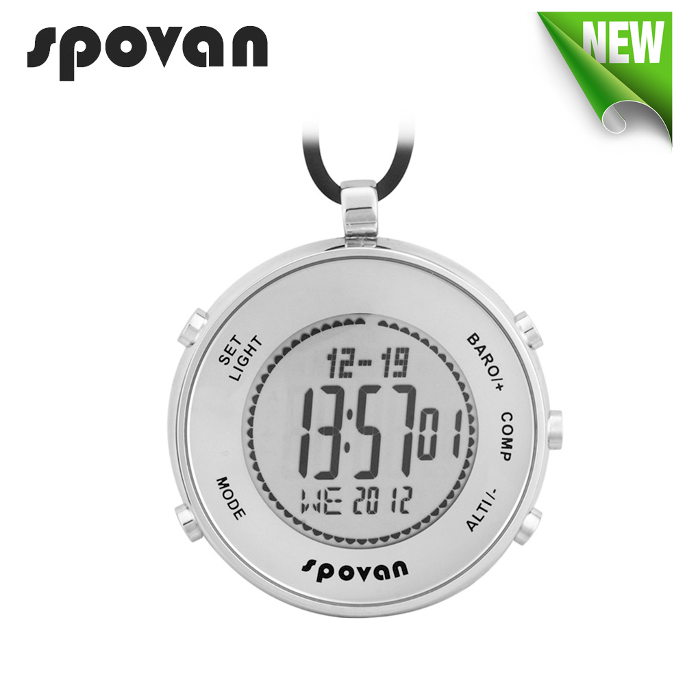 SPOVAN Watch for Sports, Military. Digital Watches, Pocket Watch Waterproof, Altimeter/Compass/Thermometer/Dual time Elementum1 north edge men sports watch altimeter barometer compass thermometer weather forecast watches digital running climbing wristwatch