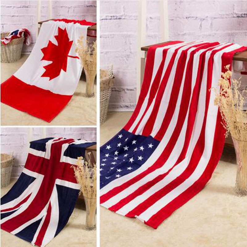bath towel summer style beach towel us uk flag dollar print toalla playa high quality towel