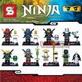 SY285 8Pcs Ninja Kai Ninja   Building Blocks Set Model Bricks Toys Aciton Figures