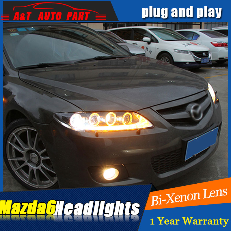 Auto.Pro Car Styling for 2003-2014 Mazda 6 LED Headlights Mazda6 LED DRL Lens Double Beam H7 HID Xenon bi xenon lens hireno headlamp for mercedes benz w163 ml320 ml280 ml350 ml430 headlight assembly led drl angel lens double beam hid xenon 2pcs