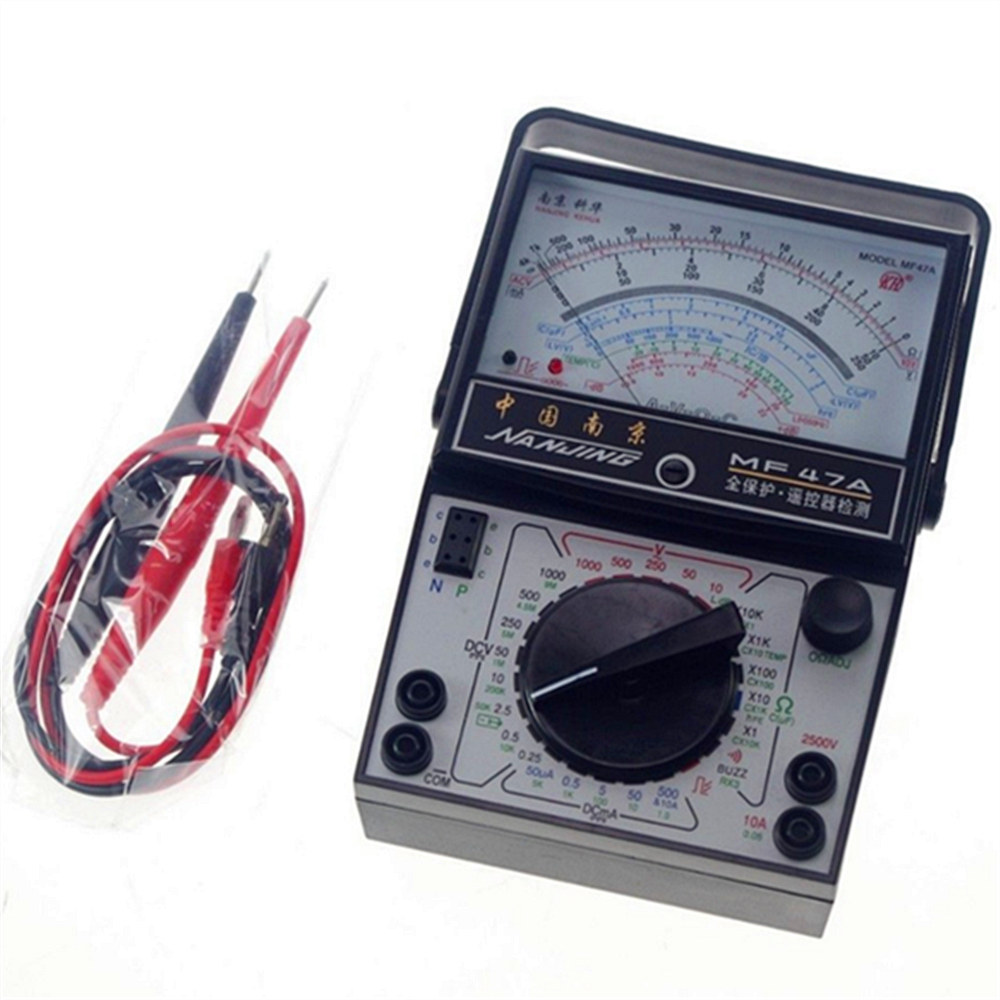 1 Pc <font><b>Volt</b></font> Ohm Amp AC DC Mechanical High-precision <font><b>Battery</b></font> Tester Meter Gauge Analog Multimeter With Beep image