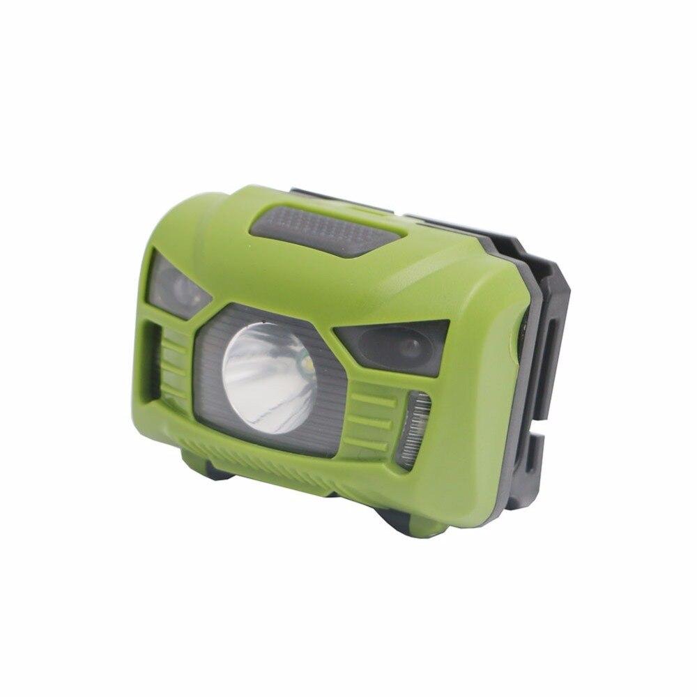 USB Rechargeable LED Head Lamp Body Motion Sensor LED Bicycle Head Light Lamp Camping Flashlight head lamp