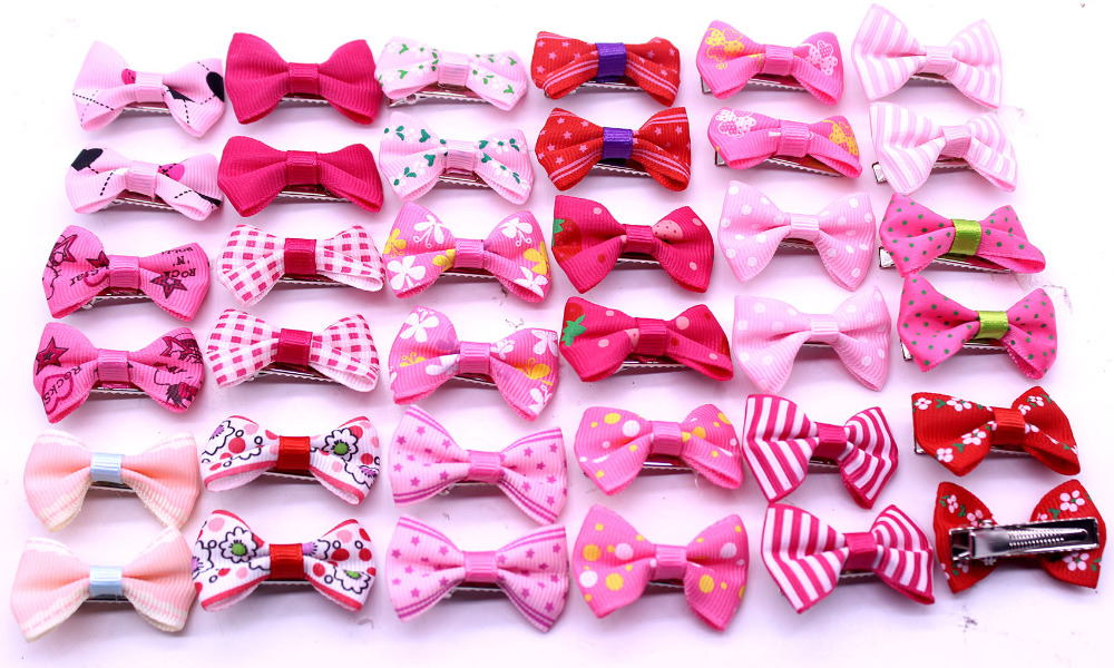 20pcs Valentine's Day Dog Pet Hair Bows Boy Girl Dog Bowknots Pet Hair Clips Dog Pet Hair Accessories Grooming Product