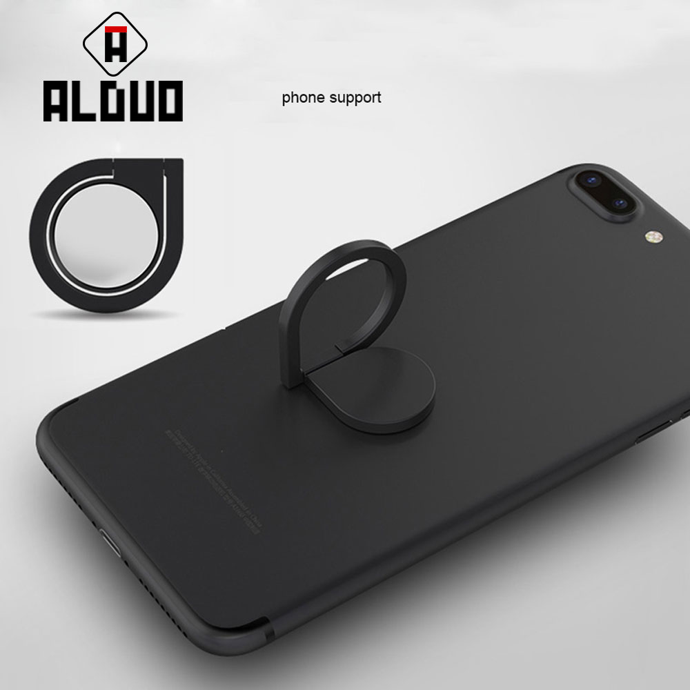 ALANGDUO Magnetic All Metal Finger Ring Stand <font><b>Magnet</b></font> <font><b>Holder</b></font> 360 Rotating Mount Mobile <font><b>Phone</b></font> Drip Grip Universal for smart <font><b>phone</b></font>