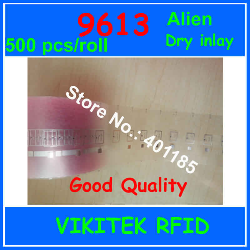 Alien authoried 9613 500pcs per roll UHF RFID dry inlay 860-960MHZ Higgs3 915M EPC C1G2 ISO18000-6C can used to RFID tag label oris 733 7591 63 51 ls