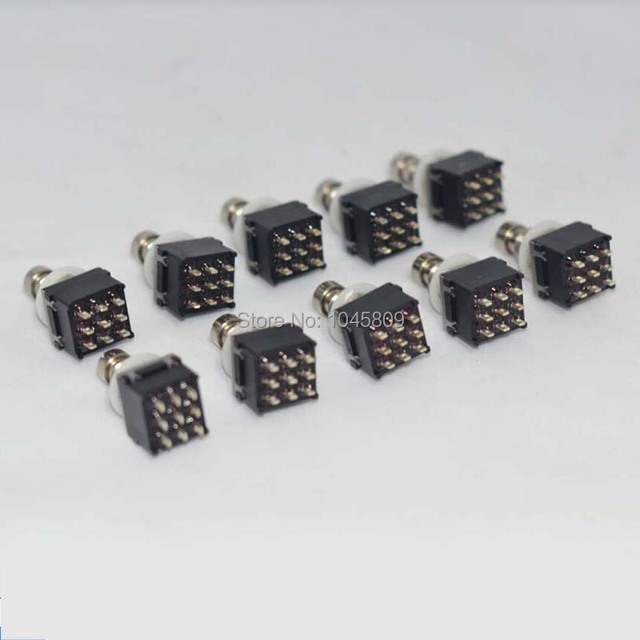 10 × 3PDT 9PINフットスイッチためギターエフェクトペダルbox stomp、トゥルーバイパスギターアクセサリー