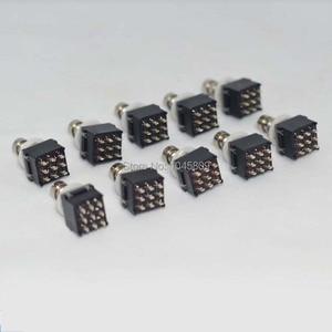 Image 1 - 10 x 3PDT 9PIN Fuß Schalter Für Effekte pedal Box Stomp, True Bypass Gitarre Zubehör
