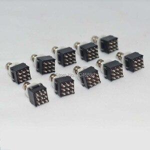 Image 1 - 10 x 3PDT 9PIN przełącznik nożny do efekt do gitary skrzynka przełączników nożnych Stomp, True Bypass akcesoria gitarowe