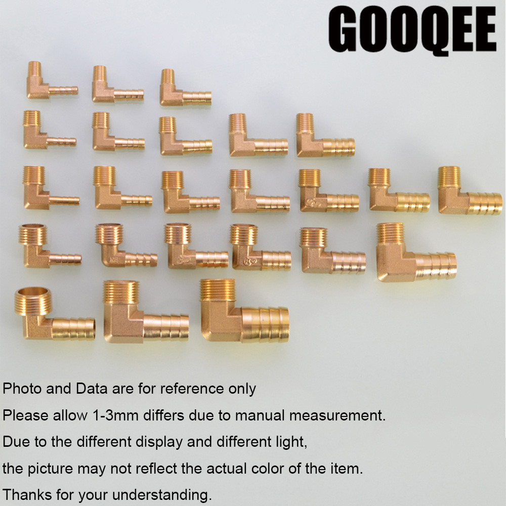 1pcs Brass Hose Barb Fitting Elbow 6/8/10/12/16/19mm To 1/4 1/8 1/2 3/8