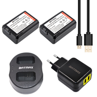 2pc NP FW50 NP FW50 Battery USB Dual Charger For Sony NEX 5 NEX 5A 5C