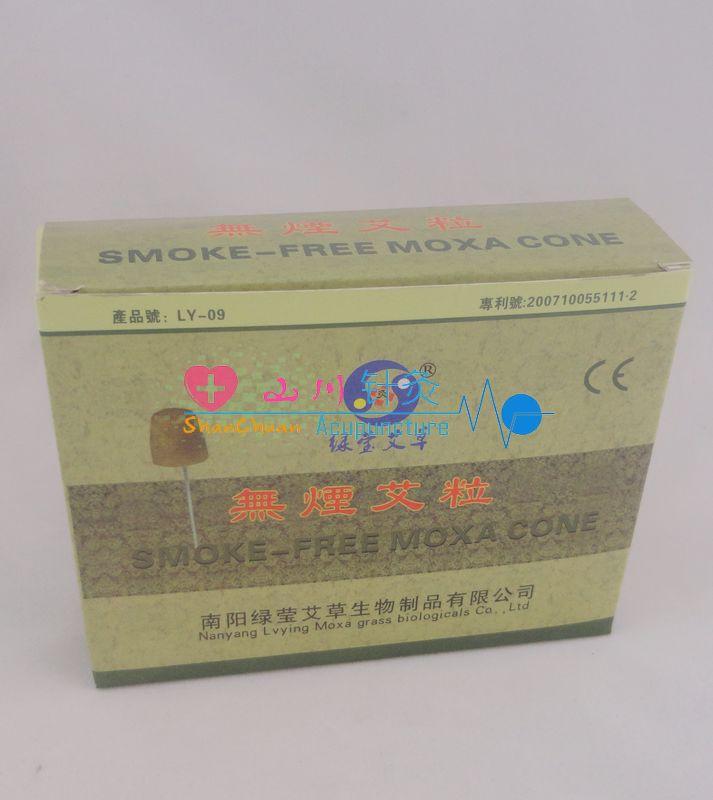 200 Pcs Smoke-free Moxa Cone 10*10mm Smokeless Warm Needle Acupuncture&moxibustion Massage Moxa Stick