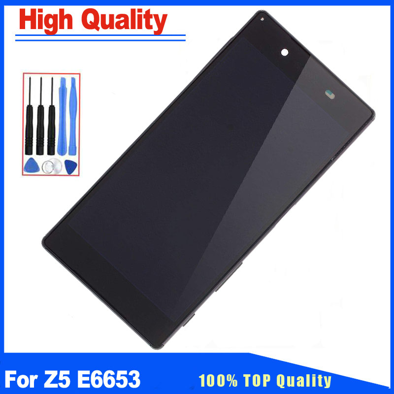 5.2For Sony Xperia Z5 E6603 E6653 E6683 E6633 LCD Display Touch Screen Digitizer With Frame Full Assembly Replacement5.2For Sony Xperia Z5 E6603 E6653 E6683 E6633 LCD Display Touch Screen Digitizer With Frame Full Assembly Replacement