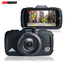 Kommander Car DVR with GPS 2 in 1 Ambarella A7 and Speedcam Full HD 1296p  Car Recorders Night Vision in Low Light for Russian