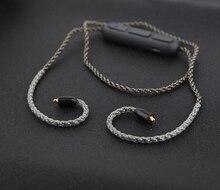 MMCX SE535 SE846 Bluetooth Cabo para Shure SE215 Placa de Prata de Cobre De Cristal Único Fio Cabo de Atualização do Fone De Ouvido com Volume do Microfone