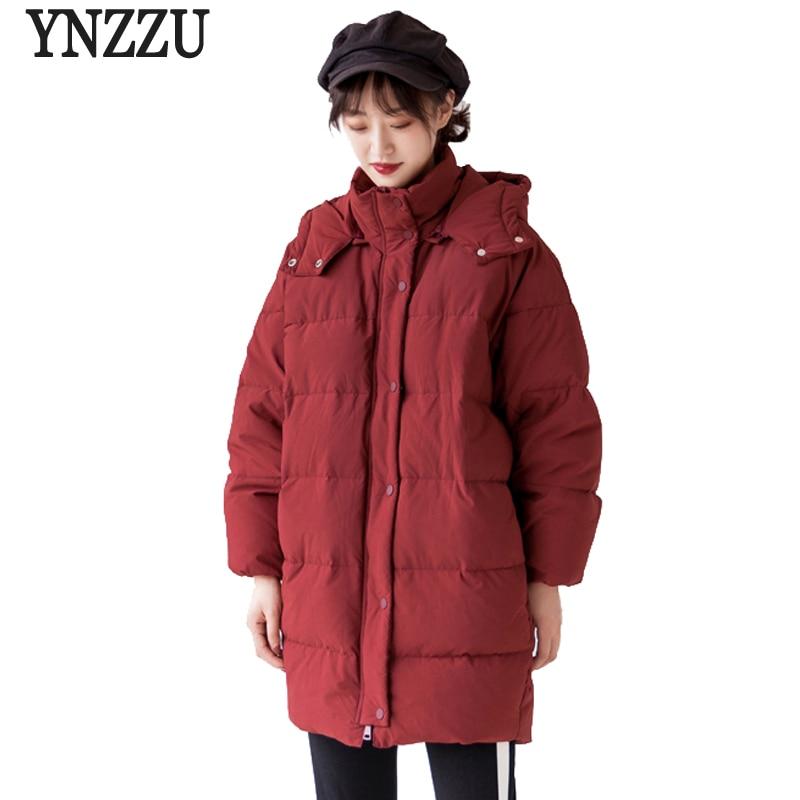Luxury 2018 Winter Women's   Down   Jacket Elegant Mid-Long Duck   Down     Coat   Women Thick Warm Hooded Windproof Loose Outwears AO710