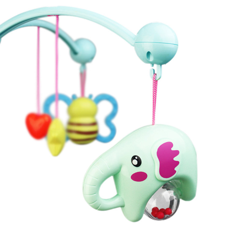 Baby ABS Crib Mobile Bed Bell Car Seat Toy Sound Holder Arm Bracket Pendant with Ring Music @ZJF