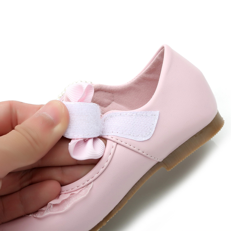 IYEAL Lente Kinderen Meisjes Lederen Platte Schoenen Mode Bloem Baby - Kinderschoenen - Foto 5