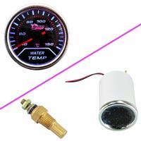 Car Universal Smoke Len 2 52mm Indicator Water Temp Gauge Meter