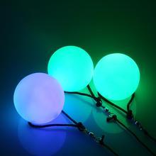 Новинка 2 шт. = 1 пара танца живота шары RGB Светящиеся пои(мячик на верёвке) светодиодный шары для кручения для танца живота ручной реквизит аксессуары для сцены
