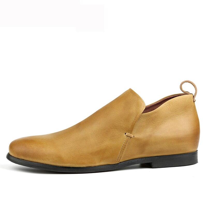 Chelsea Alta Masculinos Qualidade Mycoron Confortáveis Homens Couro Dos Preto Primavera khaki Cozy Sapatos Hombre Botas De Outono Tornozelo SqHf8q