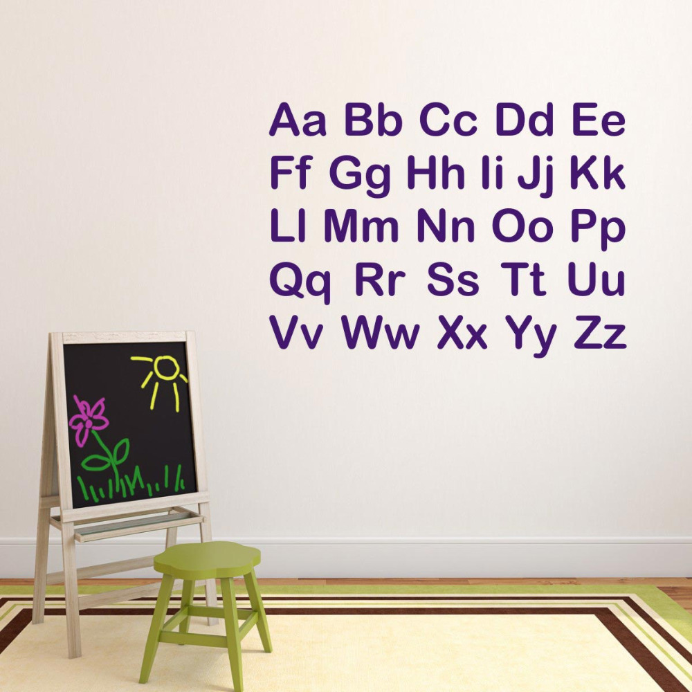 Alphabet Letters Wall Stickers For Kids Room Nurdery Classroom Wall  Decorations Bedroom Baby Wall Decals Letter Wall Art A003 In Wall Stickers  From Home ...