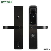 RAYKUBE цифра отпечатков пальцев Дверной замок без ключа вход умный Противоугонный замок для домашней безопасности с RFID считыватель R-FZ3