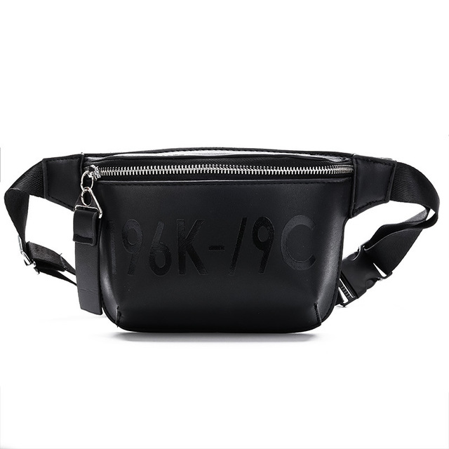 ed66b751a96db Women Fashion Zipper Waist Bag PU Leather Letter Female Fanny Pack Bags  Luxury Brand Lady Chest Belt Bags Phone Purse Sac Banane