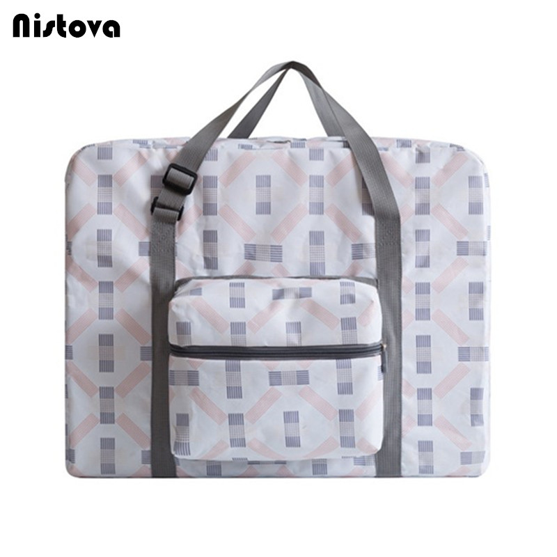 Foldable Travel Tote Bag,Waterproof Lightweight Zipper High Capacity Duffle Bag Carry Storage Luggage Handbag for Women Men