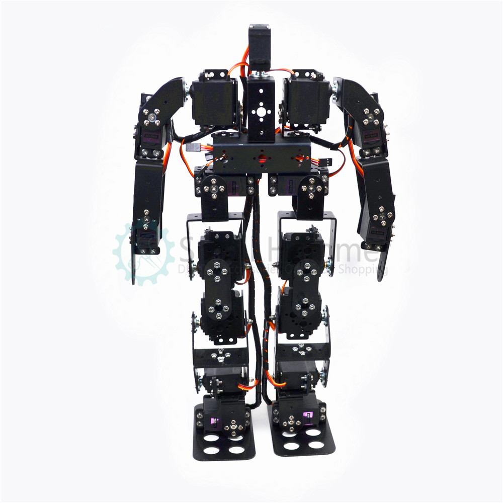 New 17 degrees of freedom humanoid dance robot/bipedal race walking robot/teaching kit/robot race робоконструктор ultimate robot kit makeblock
