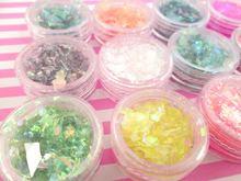1 Набор из 12 флаконов в наборе блестящая фольга пластиковые